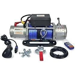 Cabrestante Electrico Winch 12v 5900Kg 13000Lbs Cuerda Sintética Para Grúa, 4x4, Todoterreno