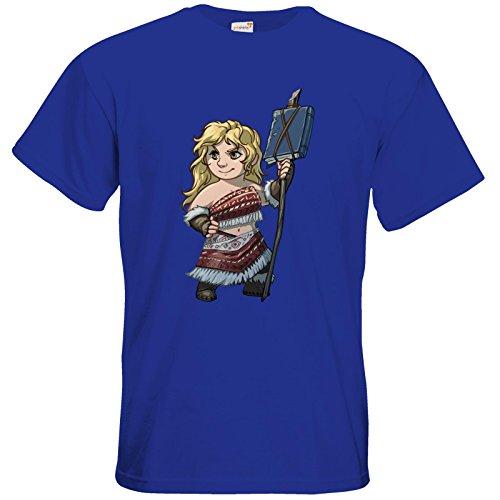 getshirts - Das Schwarze Auge - T-Shirt - Let's Plays - Leeta - Chibi Royal Blue