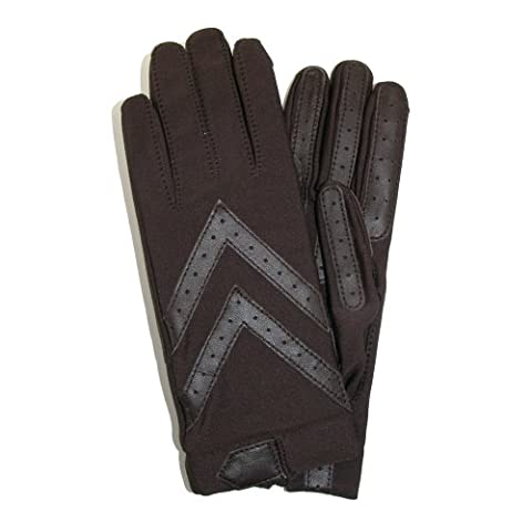 totes ISOTONER Womens Unlined Leather Palm Driving Gloves, Marron - Marron, Taille Unique