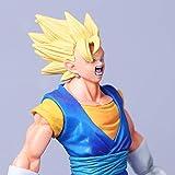 Anime Dragon Ball Z Son Goku Vegeta Fusión Gogeta Figura de acción Gohan Padre Super Saiyan Figuración de Chocolate DBZ Modelo 21c, Cabello Dorado