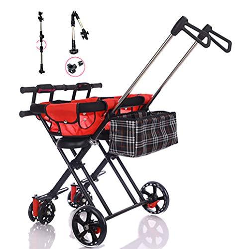 Unbekannt GUO@ Faltbarer Doppelkinderwagen Kinder Doppel Trolley Dreirad Leichte Einfache Kinderwagen Rollover PräVention