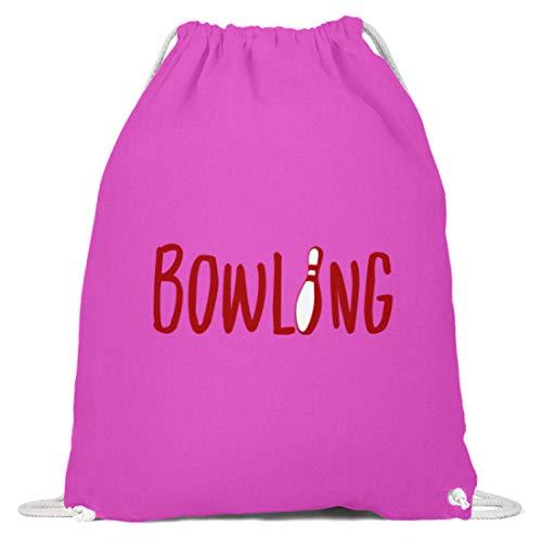 Schuhboutique Doris Finke UG (haftungsbeschränkt) Bowling Kegel - Baumwoll Gymsac -37cm-46cm-Fuchsia -