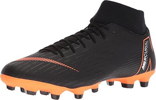 NIKE Herren Mercurial Superfly VI Academy MG Fußballschuhe, Schwarz (Black/Total Orange-W 081), 47 EU