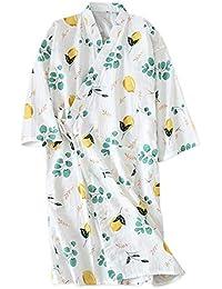 YTFOPLK Nuevo Diseño Batas De Kimono Frescas para Mujer Batas De Baño De Algodón Algodón Fino