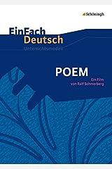 EinFach Deutsch Unterrichtsmodelle: POEM: Ein Film von Ralf Schmerberg. Gymnasiale Oberstufe Broschiert