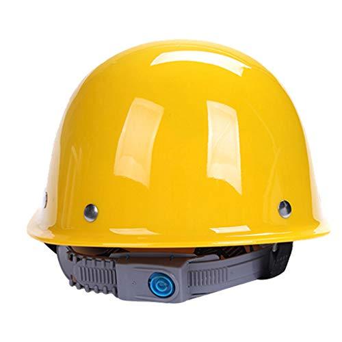 (GYZ Bauhelm-Cap Style Hard Hat Einstellbare Ratsche 4 Pt Suspension Harte Nicht belüftete Hut Einstellbare Helm PP Engineering Helme + (Farbe : Gelb))