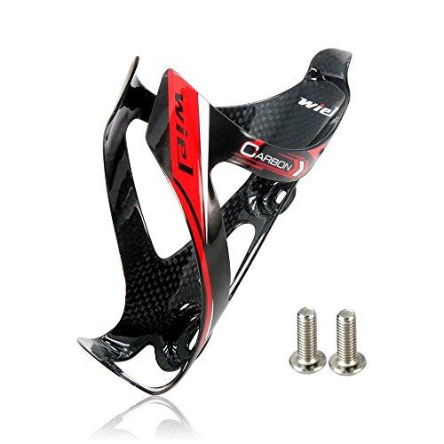 Wiel Porta borraccia completamente in fibra di carbonio ultraleggera, supporto per bicicletta, 26g