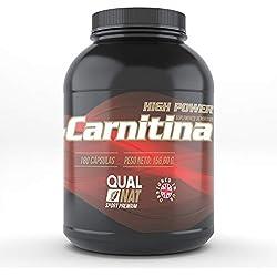 L-Carnitina Pura   Quemagrasas para perder peso rápido   Potente quemador de Grasa Deportiva   Mejora Musculación y Rendimiento   180 Cápsulas
