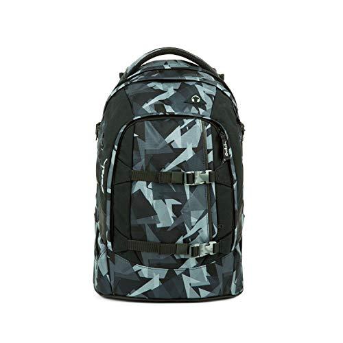 Satch Pack Gravity Grey, ergonomischer Schulrucksack, 30 Liter, Organisationstalent, Grau/Schwarz