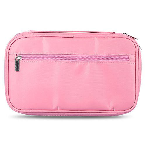 Makeup Brushes Bag Cosmetics Storage Case Holder Toiletry Handbag Organizer Portable Zipper Pouch For Home And Travel Use