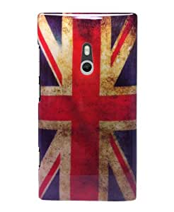 Retro Union Jack Design Kunststoff Skin Hardcase Schutzhülle FÜR Nokia Lumia 800