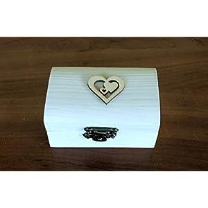Ring-Träger Box, Hochzeit/Verlobung-Ring-Box, personalisierte Hochzeit Ring-Box, Träger Ringkissen, rustikale Ehering Halter, Kissen Träger Box, Rolle in Sackleinen und weiße Spitze. 8.5x5x4,7 cm