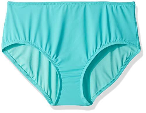 Chloe Nylon-bikini (Beach House Damen High Waisted Bikini Bottom Swimsuit Bikinihose, Paloma Beach Caribe Aqua, 38)