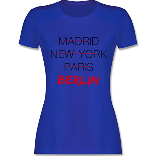 Städte - Weltstadt Berlin - Damen T-Shirt Rundhals Royalblau