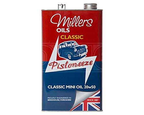 Millers Öl pistoneeze Classic Mini 20W-50Mineral Motorenöl Motoröl–5Liter