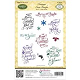 Justrite Papercraft Rubber Just Rite Cling Stamp Set 5.5-inch x 8.5-inch, Christmas Inner Thoughts