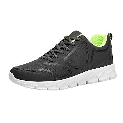 Oyedens Scarpe da Corsa Scarpe Sportive da Uomo Scarpe da Ginnastica Antiscivolo Scarpe Stringate Uomo Espadrillas Fashion Men's Winter Warm Leather Casual Shoes Sports Running Shoes Regalo Uomo