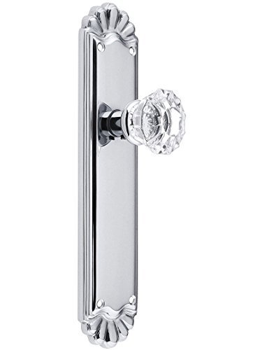 Trenton Door Set With Fluted Crystal Knobs Double Dummy Polished Chrome. Old Door Knobs. by Emtek Fluted Crystal