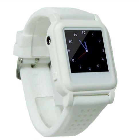 Reloj chuleta electrónico con botón de emergencia (Blanco)