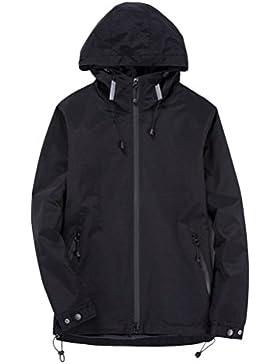 Zhhlinyuan Rompevientos Men's Warm Zipped Casual Long Sleeve Windbreaker Outdoor Sports Hoodie Sportswear Father...