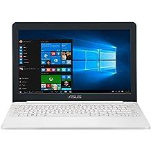"ASUS E203NA-FD020T - Ordenador Portátil de 11.6"" HD (Intel Celeron N3350, 2 GB RAM, 32 GB EMMC, Intel HD Graphics 500, Windows 10 Home) Blanco - Teclado QWERTY español"