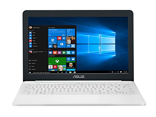 "ASUS E203NA-FD020T - Ordenador portátil de 11.6"" (Intel Celeron N3350, 2 GB de RAM, disco duro eMMC de 32 GB, Intel HD Graphics 500, Windows 10 Original) blanco perla - teclado QWERTY español"