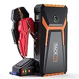 TACKLIFE T8 Booster Avviamento Auto 800A/18000mAh 12V Jump Starter per Motore Benzina Fino a 6.5L e Diesel 5.5L, con Pinzette intelligenti, Schermo LCD, Torcia a LED, USB QC 3.0