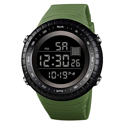 friendGG Neue Luxusuhr Herren Digital LED Uhr Datum Sport Herren Outdoor Elektronische Uhr