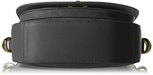 Tommy Hilfiger Th Twist Leather Medium Crossover, Sacs bandoulière Noir (Black)