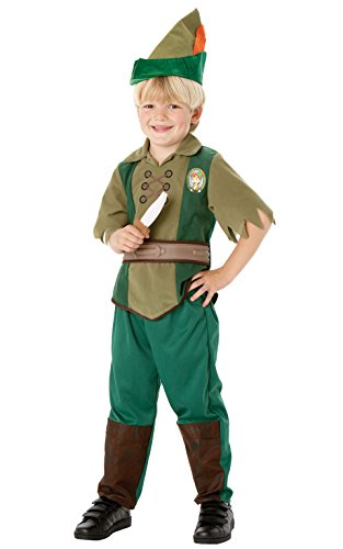 rubies-official-disney-alice-in-wonderland-peter-pan-bagged-child-costume-medium