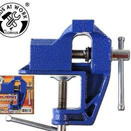KIDS AT WORK Schraubstock klein Kinderwerkzeug 50mm Backenbreite A600381