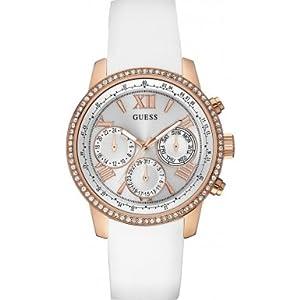 Guess damen armbanduhr overdrive analog quarz kautschuk w90084l1