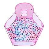 Laufstall Tragbare säuglings playpens mesh schutzzaun spielzeug play zelt ball pit sicherheit atmungsaktiv play yard rosa (größe : With 100 balls)