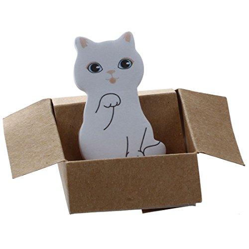 Haftnotizen - TOOGOO(R) Lustiger Katzenhausaufkleber Per Post Zeichen Memo Haftnotizen (Groesse: 4 cm um 2.5 cm) Lesezeichen