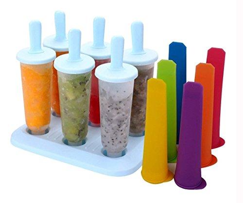 Besnail Stieleisformer 6 Stück EIS am Stiel und 6 Stück Eislutscher Formen aus Silikon BPA Frei