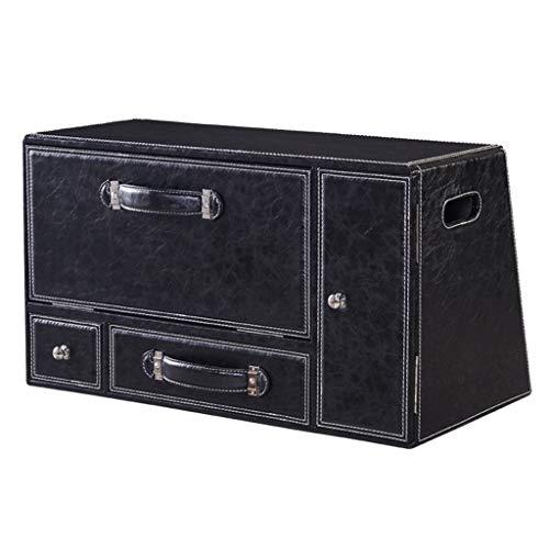 Coffre de Voiture Organisateur Boîte de Rangement pour Voiture Boîte de Rangement Multifonction Grande boîte de Rangement pour Voiture Rangement pour Voiture (Color : Black, Size : 65 * 26 * 33cm)