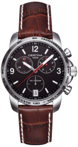 Certina Herren-Armbanduhr XL Chronograph Quarz Leder C001.417.16.057.00