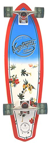 Kryptonic Retro Maui Pattern longskate, Blanco