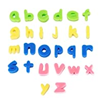 IPOTCH Foam Bath Letters and Shapes (26 Piece Set) - Educational Bath Tub Toys for Children Kids