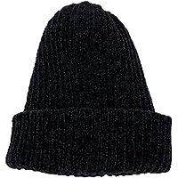 Gorros Gorro De Sombreros Gorras Calentar Cálido Unisex Beanie Suave Color Sólido Rizado Grueso Otoño E Invierno Sombrero ZHANGGUOHUA (Color : Negro)