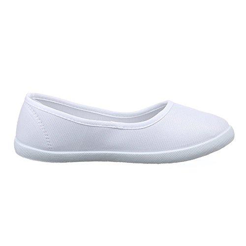 Damen Schuhe, 943-Y-1, HALBSCHUHE SLIPPER FREIZEITSCHUHE Weiß 943-Y-