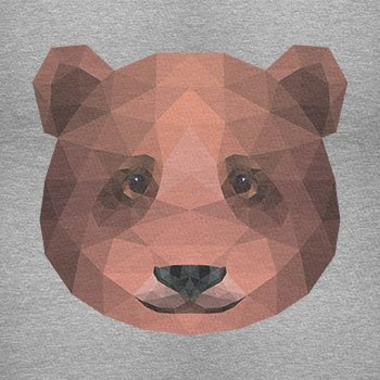 TEXLAB - Polygon Bearface - Herren T-Shirt Grau Meliert