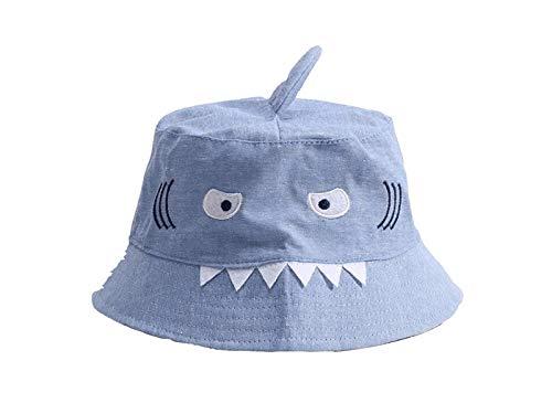 Young shinee Kinder Hut Kreative Kinder Shark Bucket Hat Kinder Packable Soft Cap Sonnenblende für 1-6 Jahre alt Kleinkind Mütze Packable Bucket