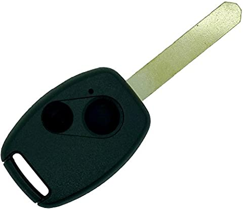 Chequers Motorstore Schlüsselbehälter für Fernbedienungsschlüssel für Honda Civic CRV Hrv ACCORD Jazz Waldfluss 2 Knopf Fernbedienung Schlüsselanhänger Schutzhülle (Jazz Knöpfe)