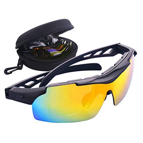 Polarisierte Sport Sonnenbrille für Männer Frauen, Mode Dauerhafte Outdoor Fahrrad Brille mit Wechselobjektiv für Angeln Laufen Golf
