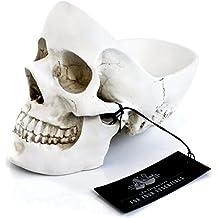 Suck Uk Skull Tidy Svuota Tasche, Plastica, Bianco