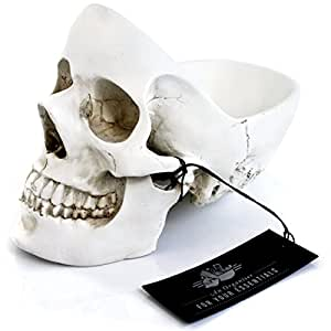 SUCK UK Skull Design Desk and Room Tidy