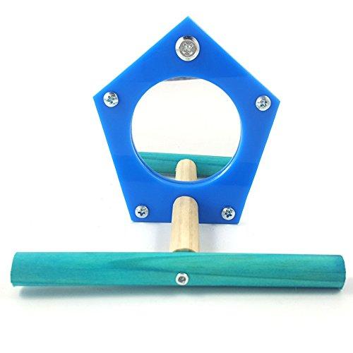 tianxun einfach Tranche Parrot Spiegel Spielzeug Vogel stehend Sitzstange Spielzeug