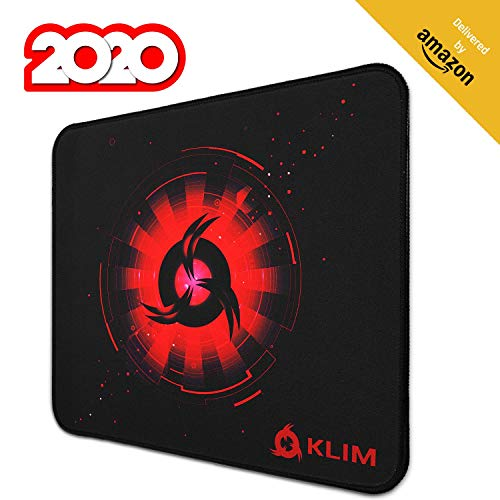 KLIM Mousepad M - Erweiterte Oberfläche - Großes Gaming Mauspad - Rutschfeste Gummiunterlage - Hochpräzise texturierte Oberfläche - 320 x 270 x 4 mm - Rot thumbnail