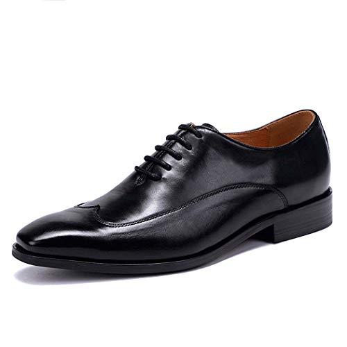 MISS&YG Herren Kleider Schuhe England Atmungsaktiv Oxford Shoes Business Men Es Shoes,Black,43 - Mens Kleid-schuhe